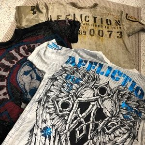 Bundle ‼️Affliction shirts